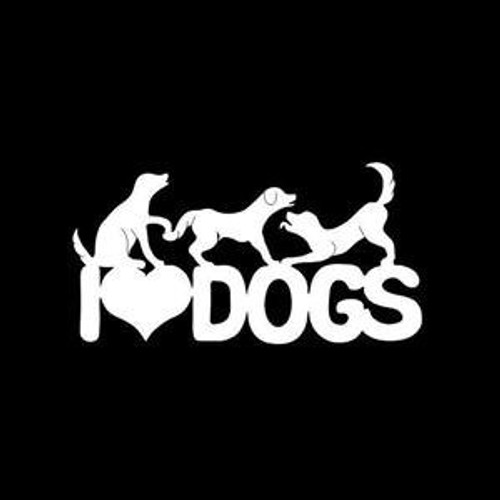 I Love Dogs Dog  Decal High glossy, premium 3 mill vinyl, with a life span of 5 - 7 years!