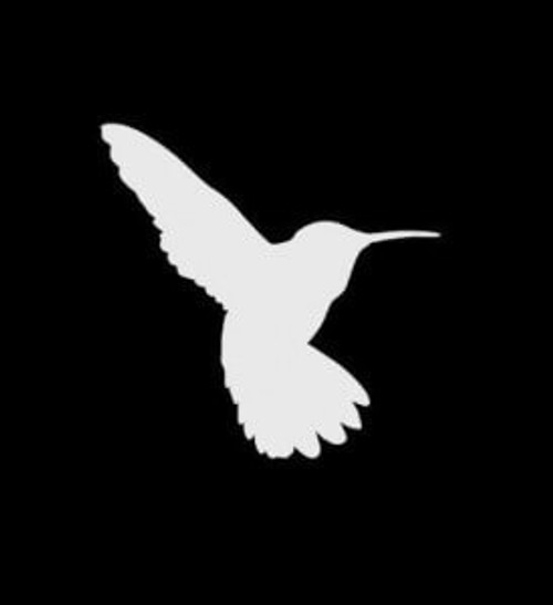 Hummingbird  Decal  a1 High glossy, premium 3 mill vinyl, with a life span of 5 - 7 years!