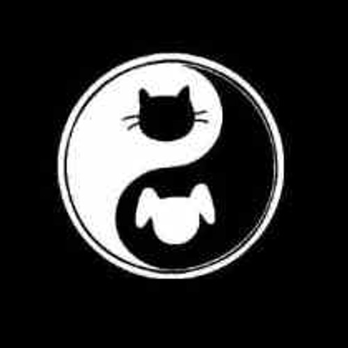 Dog Cat Yin Yang Ying Yang  Decal High glossy, premium 3 mill vinyl, with a life span of 5 - 7 years!