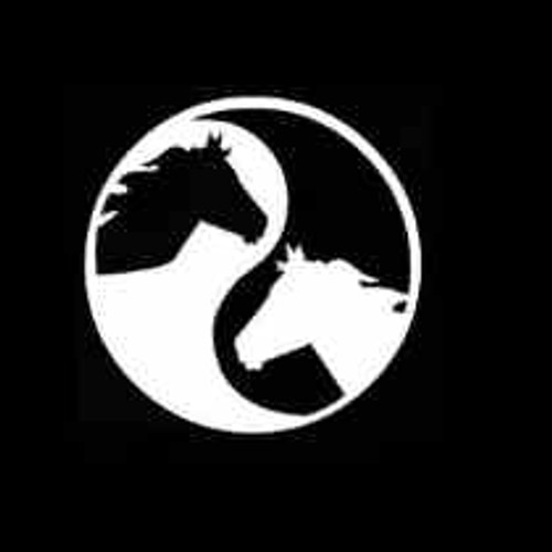 Horse head ying yang  Decal High glossy, premium 3 mill vinyl, with a life span of 5 - 7 years!
