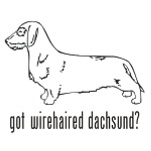Got Wirehaired Dachshund? Dog    Decal High glossy, premium 3 mill vinyl, with a life span of 5 - 7 years!