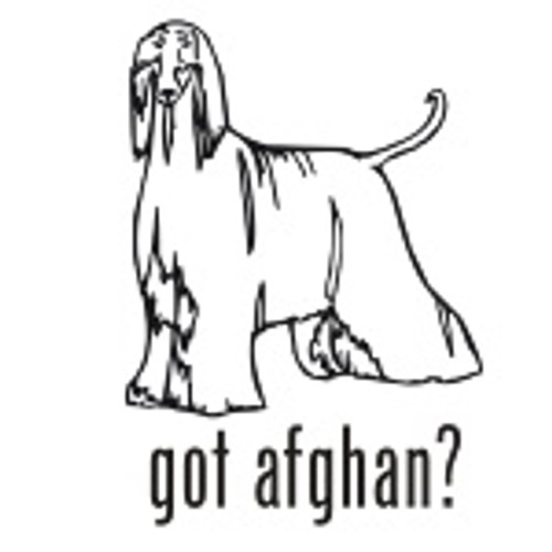 Got Afghan? Hound Dog   Decal High glossy, premium 3 mill vinyl, with a life span of 5 - 7 years!