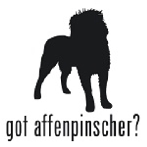 Got Affenpinscher? Toy Dog  Silhouette  Decal High glossy, premium 3 mill vinyl, with a life span of 5 - 7 years!