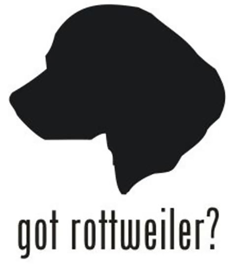 Got Rottweiler? Dog Head Decal