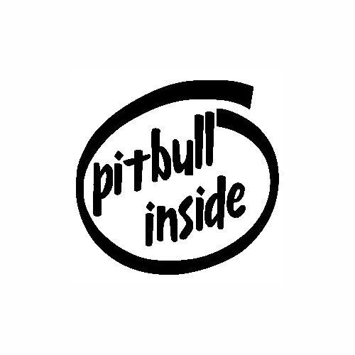 Pitbull Inside Vinyl Decal High glossy, premium 3 mill vinyl, with a life span of 5 - 7 years!