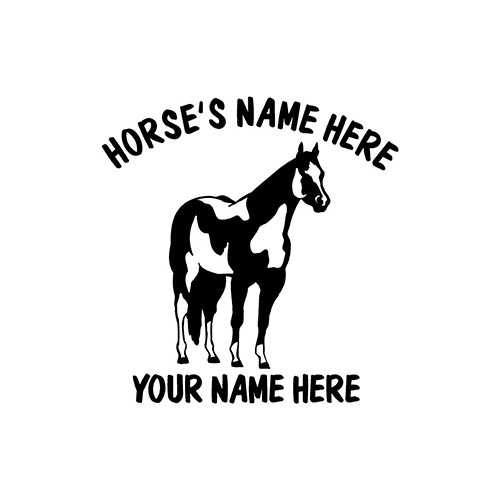 Country  Horse   Vinyl Decal High glossy, premium 3 mill vinyl, with a life span of 5 - 7 years!