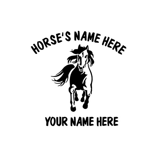 FORWARD Running  Horse   Vinyl Decal High glossy, premium 3 mill vinyl, with a life span of 5 - 7 years!
