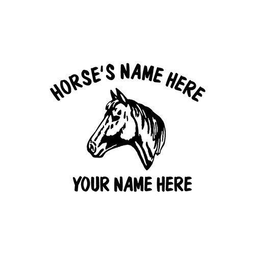 Horse S Head   Vinyl Decal High glossy, premium 3 mill vinyl, with a life span of 5 - 7 years!