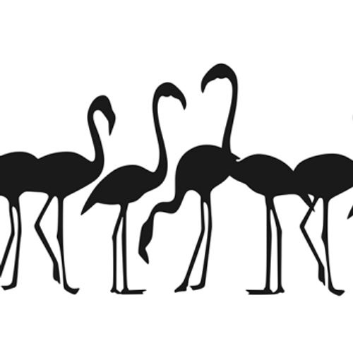 8 Flamingos Flock Vinyl Decal High glossy, premium 3 mill vinyl, with a life span of 5 - 7 years!