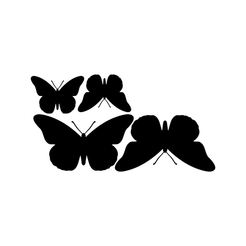 Butterflies Vinyl Decal High glossy, premium 3 mill vinyl, with a life span of 5 - 7 years!