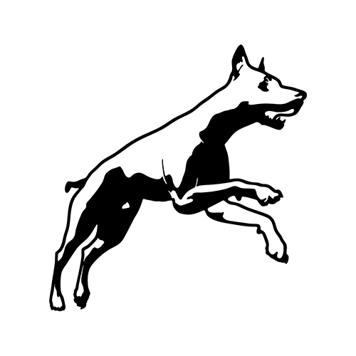 Dog Jumping    Vinyl Decal High glossy, premium 3 mill vinyl, with a life span of 5 - 7 years!
