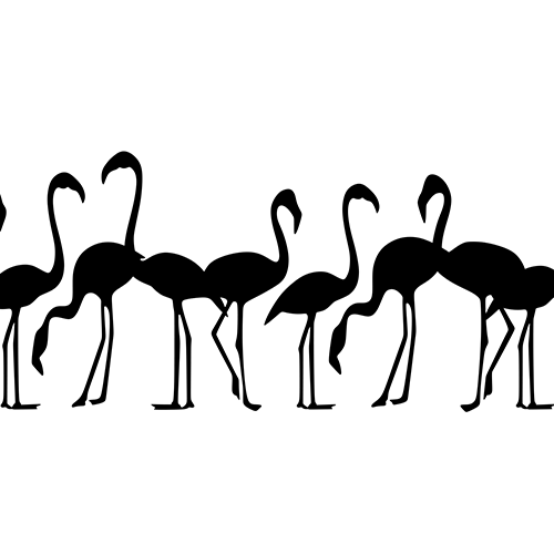 Flock of flamingos Vinyl Decal High glossy, premium 3 mill vinyl, with a life span of 5 - 7 years!