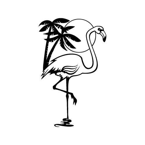 Pink Flamingos Vinyl Decal High glossy, premium 3 mill vinyl, with a life span of 5 - 7 years!