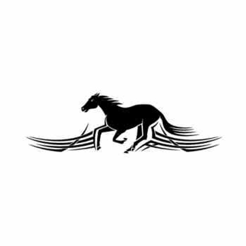 Tribal Horse Running     Vinyl Decal High glossy, premium 3 mill vinyl, with a life span of 5 - 7 years!