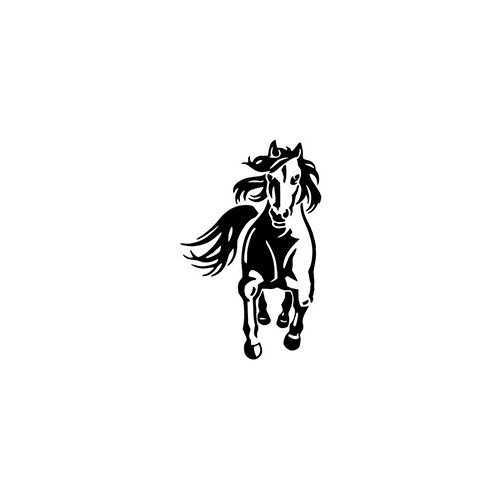 Running Horse ver3     Vinyl Decal High glossy, premium 3 mill vinyl, with a life span of 5 - 7 years!