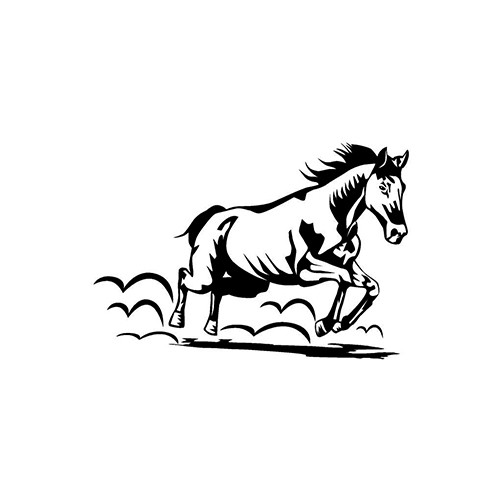 Running Horse ver1     Vinyl Decal High glossy, premium 3 mill vinyl, with a life span of 5 - 7 years!