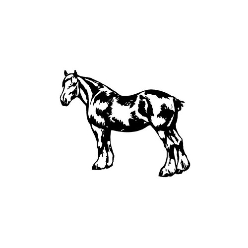 Draft Horse ver2     Vinyl Decal High glossy, premium 3 mill vinyl, with a life span of 5 - 7 years!