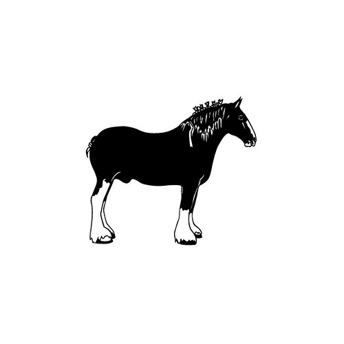 Draft Horse ver1     Vinyl Decal High glossy, premium 3 mill vinyl, with a life span of 5 - 7 years!