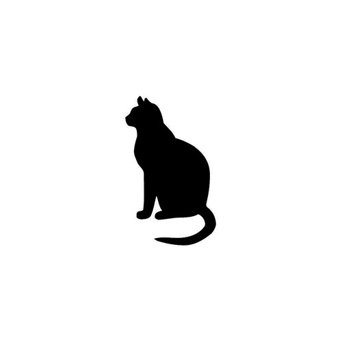 Cat Silhouette     Vinyl Decal High glossy, premium 3 mill vinyl, with a life span of 5 - 7 years!