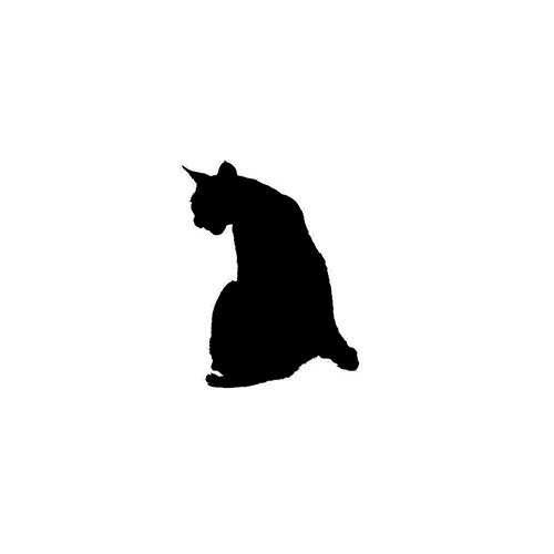 Cat Silhouette ver7     Vinyl Decal High glossy, premium 3 mill vinyl, with a life span of 5 - 7 years!