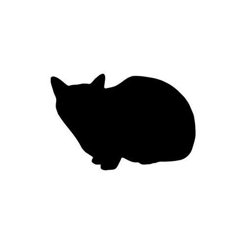 Cat Silhouette ver6     Vinyl Decal High glossy, premium 3 mill vinyl, with a life span of 5 - 7 years!
