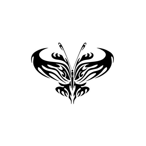 Tribal Butterfly ver2   Vinyl Decal High glossy, premium 3 mill vinyl, with a life span of 5 - 7 years!