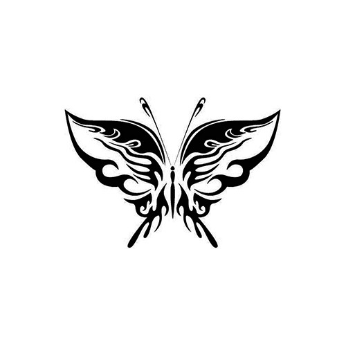 Tribal Butterfly ver3   Vinyl Decal High glossy, premium 3 mill vinyl, with a life span of 5 - 7 years!