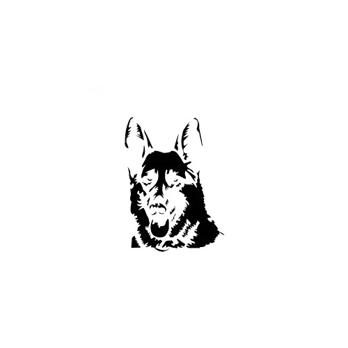 German Shepherd Design 2 Decal High glossy, premium 3 mill vinyl, with a life span of 5 - 7 years!