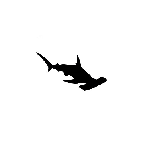 Hammerhead Shark Decal High glossy, premium 3 mill vinyl, with a life span of 5 - 7 years!