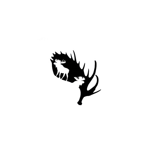 Moose Antler Decal High glossy, premium 3 mill vinyl, with a life span of 5 - 7 years!