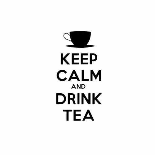 Keep Calm And Drink Tea Vinyl Decal Sticker Size option will determine the size from the longest side Industry standard high performance calendared vinyl film Cut from Oracle 651 2.5 mil Outdoor durability is 7 years Glossy surface finish