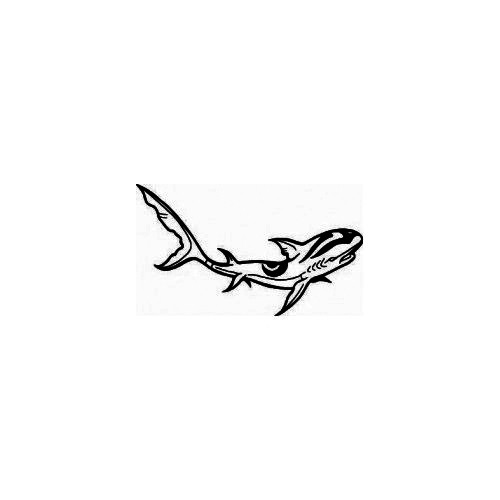 Shark Vinyl Design 2 Decal High glossy, premium 3 mill vinyl, with a life span of 5 - 7 years!