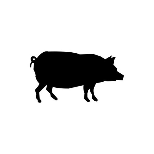 Pig 2 Vinyl Decal High glossy, premium 3 mill vinyl, with a life span of 5 - 7 years!