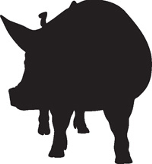 Pig 6 Vinyl Decal High glossy, premium 3 mill vinyl, with a life span of 5 - 7 years!