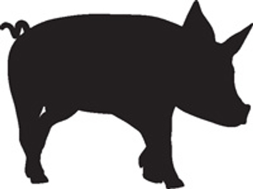 Piglet 10 Vinyl Decal High glossy, premium 3 mill vinyl, with a life span of 5 - 7 years!