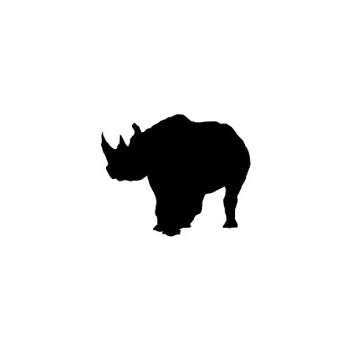 Rhino 2 Vinyl Decal High glossy, premium 3 mill vinyl, with a life span of 5 - 7 years!