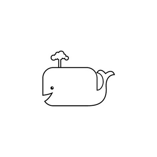 Whale Cartoon Vinyl Decal High glossy, premium 3 mill vinyl, with a life span of 5 - 7 years!
