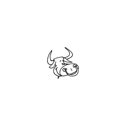 Adorable Bull Head Sticker High glossy, premium 3 mill vinyl, with a life span of 5 - 7 years!