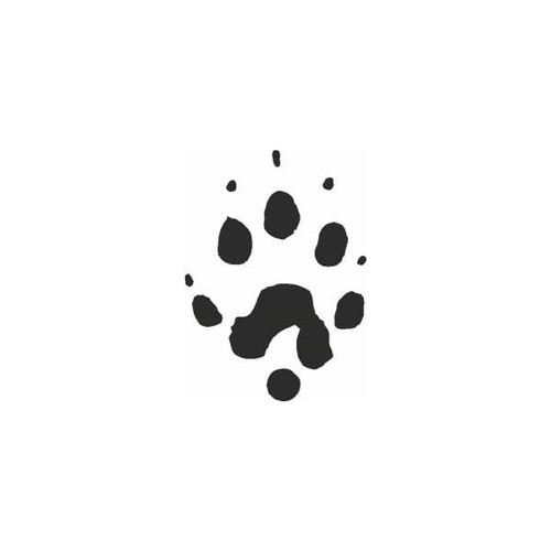 Ferret Paw Print Foot Track Vinyl Decal High glossy, premium 3 mill vinyl, with a life span of 5 - 7 years!
