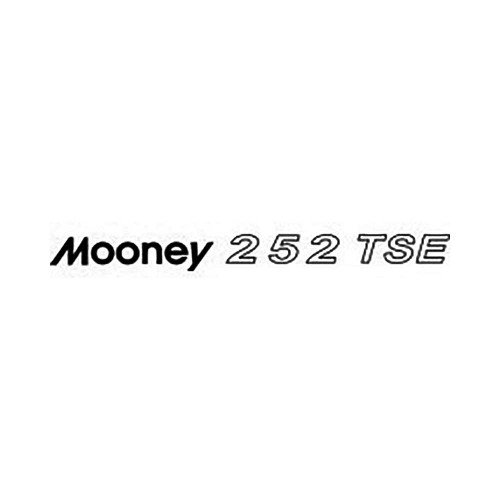 Mooney 252 TSE Vinyl Decal Graphic High glossy, premium 3 mill vinyl, with a life span of 5 – 7 years!