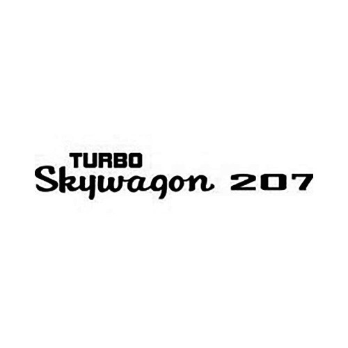 Turbo Skywagon 207 Vinyl Decal Graphic High glossy, premium 3 mill vinyl, with a life span of 5 – 7 years!