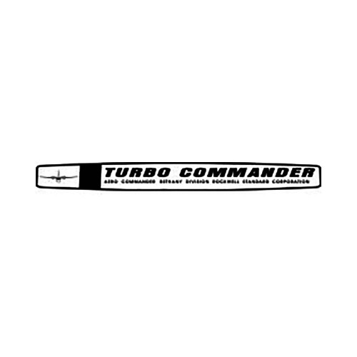 Turbo Commander Yoke Vinyl Decal Graphic High glossy, premium 3 mill vinyl, with a life span of 5 – 7 years!