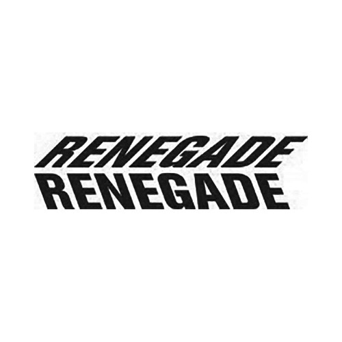 Renegade Logo Vinyl Decal Graphic High glossy, premium 3 mill vinyl, with a life span of 5 – 7 years!