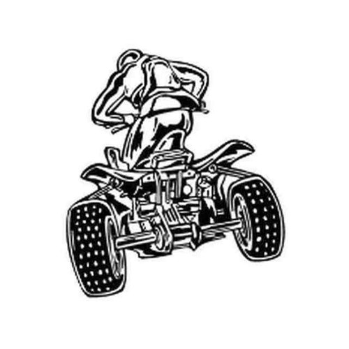 Our ATV Rear View v1 Decal Sticker comes in High glossy, premium 3 mill vinyl, with a life span of 5 - 7 years. Color Options Available. <strong></strong> &nbsp;
