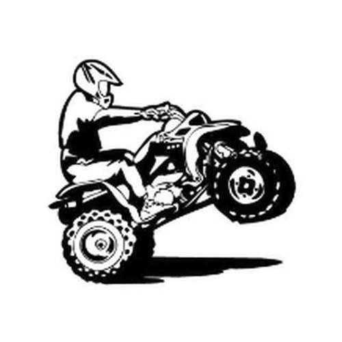 Our ATV Wheelie Decal Sticker comes in High glossy, premium 3 mill vinyl, with a life span of 5 - 7 years. Color Options Available. <strong> </strong> &nbsp;