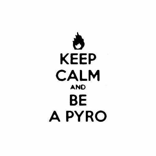 Keep Calm And Be A Pyro Vinyl Decal Sticker Size option will determine the size from the longest side Industry standard high performance calendared vinyl film Cut from Oracle 651 2.5 mil Outdoor durability is 7 years Glossy surface finish