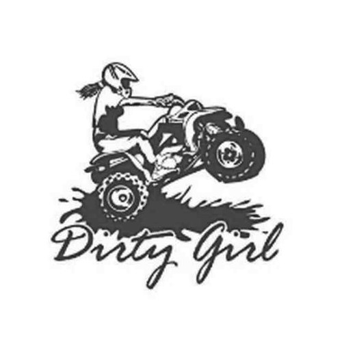 Our Dirty Girl ATV Decal Sticker comes in High glossy, premium 3 mill vinyl, with a life span of 5 - 7 years. Color Options Available. <strong></strong> &nbsp;