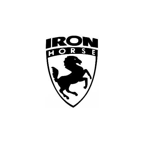 Our Iron Horse Bikes Logo Decal is offered in many color and size options. <strong>PREMIUM QUALITY</strong> <ul>  <li>High Performance Vinyl</li>  <li>3 mil</li>  <li>5 - 7 Outdoor Lifespan</li>  <li>High Glossy</li>  <li>Made in the USA</li> </ul> &nbsp;