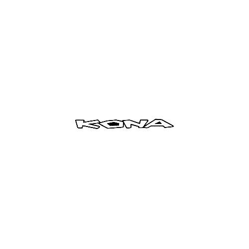 Our Kona Text Straight Logo Decal is offered in many color and size options. <strong>PREMIUM QUALITY</strong> <ul>  <li>High Performance Vinyl</li>  <li>3 mil</li>  <li>5 - 7 Outdoor Lifespan</li>  <li>High Glossy</li>  <li>Made in the USA</li> </ul> &nbsp;
