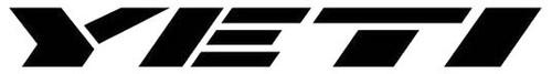 Yeti Text Logo Decal